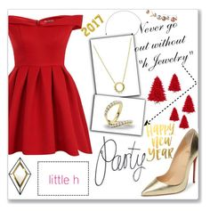 """""""Happy New Year"""" by sabine-herrlock ❤ liked on Polyvore featuring Christian Louboutin, Chi Chi, Nicola Falcone, pearljewelry and littlehjewelry"""