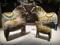The exhibition of Dala horses in Dalarnas Museum in Falun | by Feltangel