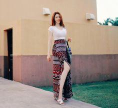 Kfashion  seoul style Slit Skirt, Seoul, Harem Pants, Skirts, Style, Fashion, Swag, Moda, Skirt