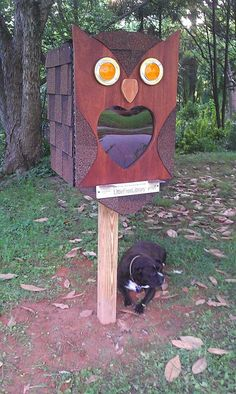 Little free library. ..owl