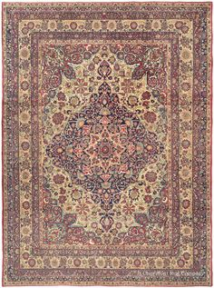 LAVER KIRMAN - Southeast Persian 9ft 9in x 13ft 2in Late 19th Century