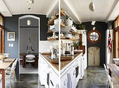 Kitchen with Grey Walls