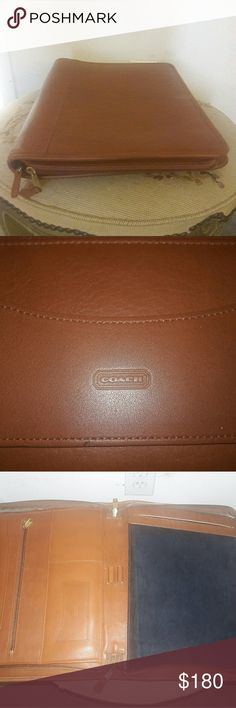 COACH Portfolio Camel leather. Great, gently used condition. Retails new for $300 Coach Bags Briefcases