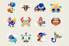 Actualité / Les signes du zodiaque pour Bouygues Télécom / étapes: design & culture visuelle