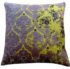 Big Paisley Grey Chartreuse- Cushion