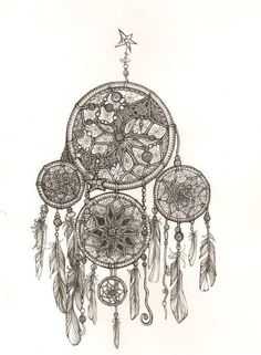 Beautiful dreamcatcher drawing.