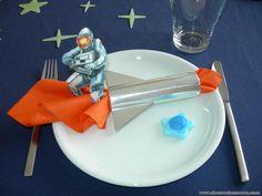 Decoracion de mesas: Mesa Cumpleaños de astronautas