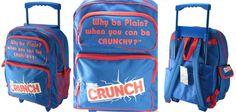 c8d3e8b220fd Nestle Crunch - Fully Licensed Backpack w Slide Handle and Wheels 17 X 13 X