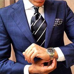 Gentleman Mode, Gentleman Style, Sharp Dressed Man, Well Dressed Men, Suit Fashion, Mens Fashion, Style Fashion, Windowpane Suit, Look Man