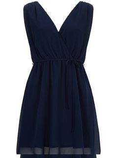 Billie and Blossom Navy wrap front dress - View All - Dresses - Dorothy Perkins United States