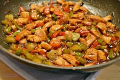 Jamie Oliver, Kung Pao Chicken, Chicken Recipes, Food And Drink, Vegan, Cooking, Ethnic Recipes, Diet, Red Peppers