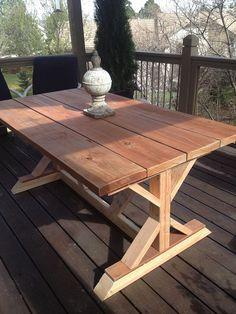 Hometalk | Budget Restoration Hardware Outdoor Table Replica