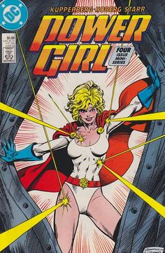 Power Girl was a four-issue limited series published from June-September of 1988. The series featured the titular hero of Power Girl, and was written by Paul Kupperberg with illustrations by Rick Hoberg and Arne Starr. Covers were produced by Kerry Gammill and Dick Giordano.