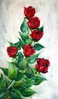 Spring whisper - Emilia Art, Oil on Canvas, 30x50 cm