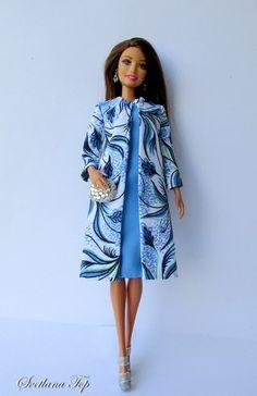 Sewing Barbie Clothes, Barbie Sewing Patterns, Doll Clothes Patterns, Clothing Patterns, Diy Clothing, Barbie Gowns, Barbie Dress, Vintage Barbie, Moda Barbie