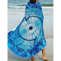 Women And Children Expressive Mandala Round Beach Towel Blanket Printed Summer Towels For Beach Yoga Mat Picnic Camping Towel Carpet Black Suitable For Men