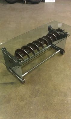 Industrial coffee table by intuitiveiron on Etsy, $3000.00