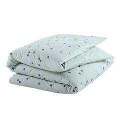 Stippen voor het bed, knuffels voor het slapengaan. La Cerise Sur Le Gâteau Odette Dekbedovertrek 140x200 cm - Iode