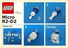 LEGO: Micro R2-D2 Instructions | Please try to make it becau | Flickr