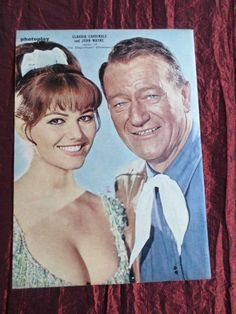 CLAUDIA CARDINALE - JOHN WAYNE - FILM STARS - 1 PAGE PICTURE- CLIPPING/CUTTING | eBay