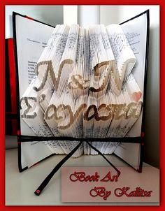 Δώρο ♥ Μονογράμματα ♥ Καρδιά ♥ Letters ♥ Book Folding ♥ Book Art ♥ Book Art By Kallitsa ♥ Δώρο επετείου ♥ Δώρο για επέτειο γάμου ή σχέσης #bookartbykallitsa #bookfolding #βιβλίο #ιδέες #δώρα #Σαγαπω #anniversarygift