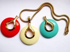 Vintage Lanvin Paris 3 Lucite Pendants Modernist Runway Necklace Set | eBay
