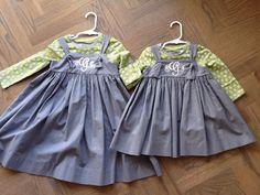 Monogrammed sister jumpers
