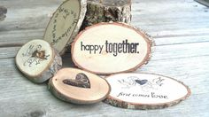 Party Supplies Woodland Table Decor Branch Slices LOVE theme Place Cards, Table Confetti, Gift Basket Inserts on Etsy, $20.51 CAD