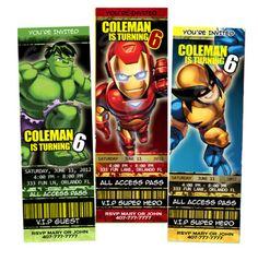 Super Hero Squad Birthday Party Invitations Ironman | eBay