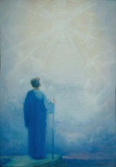 Stairway to Heaven, BARON ARILD ROSENKRANTZ, watercolor