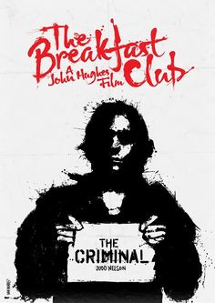 The Breakfast Club (1985) By Daniel Norris #breakfastclub #movieposters #posters #minimalmovieposters #posterdesign #80smovies #1985 #1985movies #danielnorris