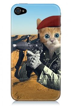 I want one! GI Kitty iPhone Case