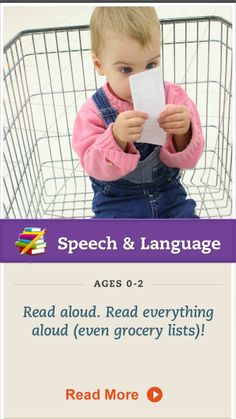 Show your child that #reading and language are everywhere by reading things aloud. Click for more. #SpeechandLanguage