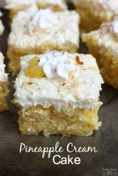 Pineapple Cream Cake from TastesBetterFromScratch.com