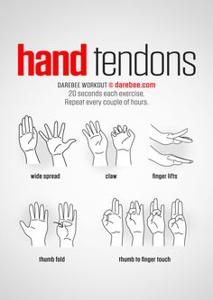 Hand Tendons workout.