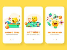 Interface Collection designed by zhezi for UDS. the global community for designers and creative professionals. App Ui Design, Page Design, Baby Apps, Ui Design Inspiration, Bear Paws, Mobile Design, Interactive Design, Show And Tell, Kids And Parenting