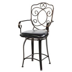 Powell Bronze with Muted Copper Scroll Back Counter Stool, 24-Inch by Powell. $90.75