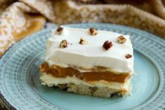 An unusual layered dessert that always gets rave reviews.