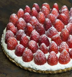 Strawberry Tart recipe by Kirsten Tibballs.