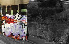 Stadtmalerei - Morbides Wien in Bunt Graffiti, Vienna, Bunt, Painting, Travel, Photos, Canvas, Graphite, Paintings
