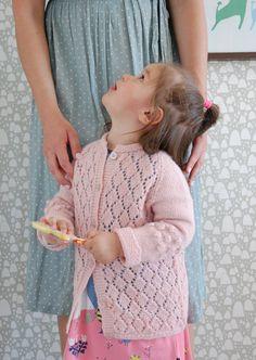 💕Soft pink alpaca cardigan I knitted for Majken, 2018, handmade by Frida Pontén 💕