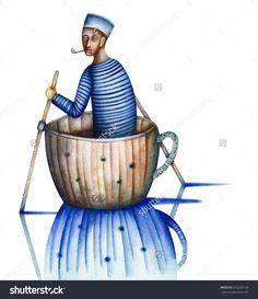 Sailor In The Cup by Eugene Ivanov #eugeneivanov #sea #voyage #sail #ship boat #cruise #sailor #captain #seafarer #seaman #mariner #vessel #boat #@eugene_1_ivanov