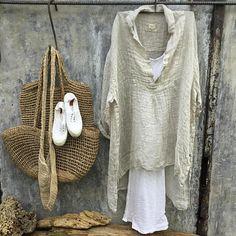Marcelle gaze lin chemise-naturel