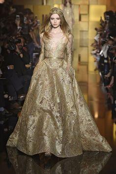 elie saab gold wedding dress http://itgirlweddings.com/fallwinter-2015-2016-paris-haute-couture-bridal-runways/