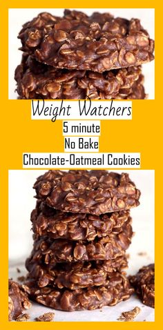 no bake chocolate oatmeal cookies – weight watchers recipes freestyle - Dessert Weight Watcher Desserts, Weight Watchers Snacks, Weight Watchers Oatmeal Recipe, Petit Déjeuner Weight Watcher, Weight Watcher Cookies, Plats Weight Watchers, Weight Watchers Meal Plans, Weight Watchers Breakfast, Weight Watchers Chocolate Frosting Recipe