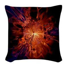 fascinating flame art Burlap Throw Pillow