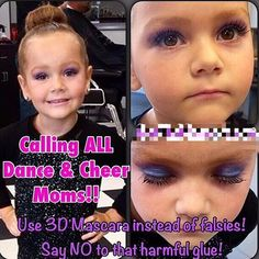 Younique's 3D Fiber Lashes - Hypoallergenic & Safe for your Pageant, Cheer, or Dance Star! No falsies - no glue! It's quick and easy to apply, goes on just like mascara! Your Little Girl Will Thank You Mom :) https://www.happygirlmakeup.com