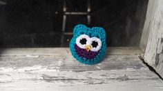 Turquoise Owl Pin by MaBsBoutique on Etsy, $7.50
