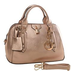 shoulder bags  MG Collection INEZ Gold Tone Metallic Doctor Style Handbag  Satchel Purse  8c7813eac82c5
