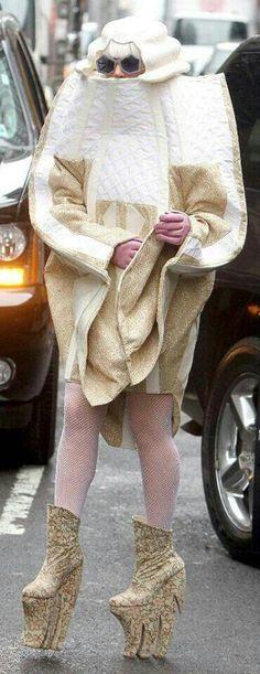 Lady Gaga. (((air fingers))) fashion (((air fingers))). Yeah. Whatever.